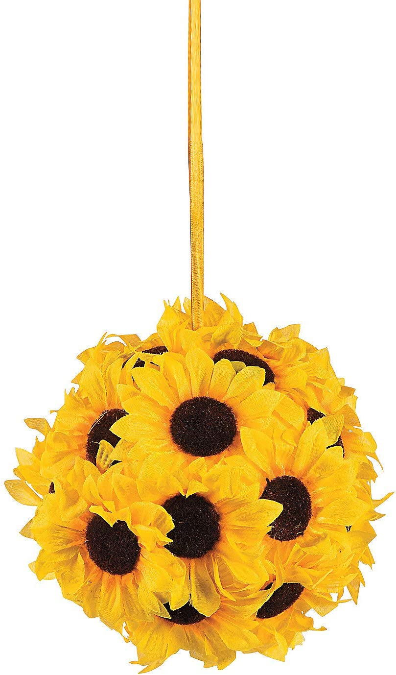 Sunflower Ball (7 Inch diameter) Wedding and Home Decor