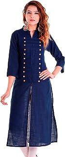 بلوزة كيرتي هندية قطنية بلاين للنساء من تشيتشي