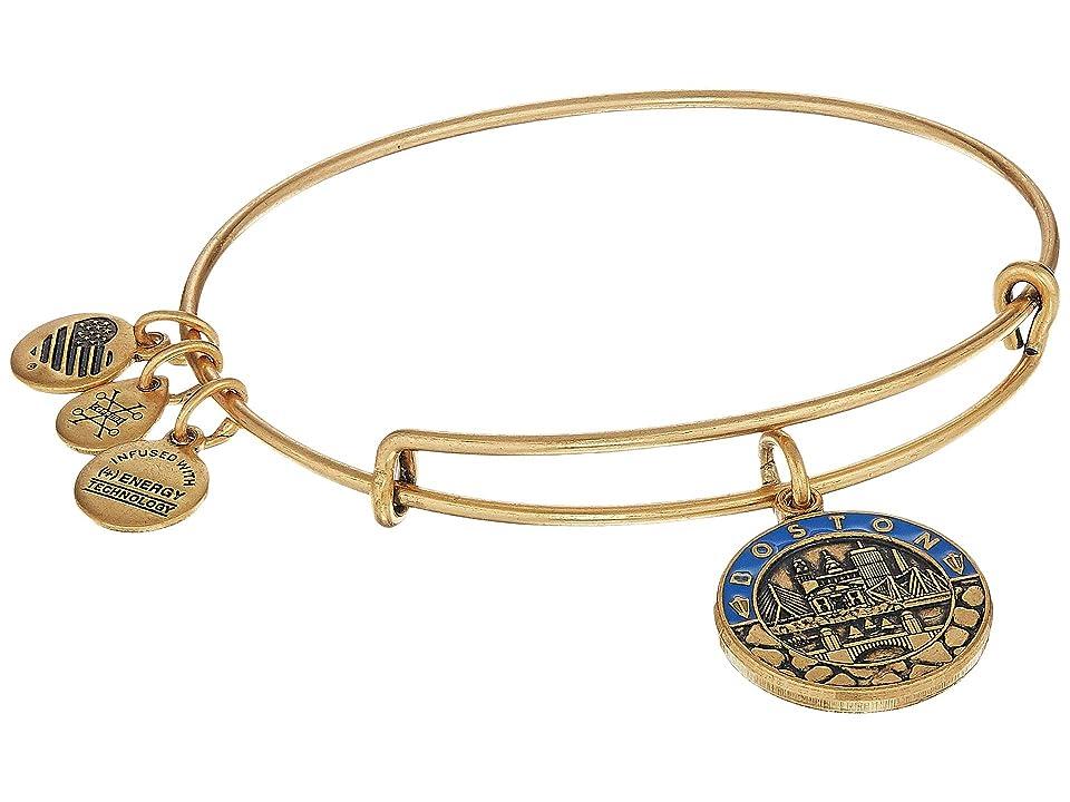Alex and Ani Places We Love - Boston III Bangle (Rafaelian Gold) Bracelet
