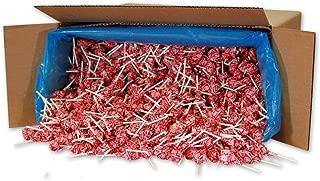 Dum Dums Color Party Lollipops, Red, Strawberry Flavor, Bulk 30lb Box, 2,340 Count