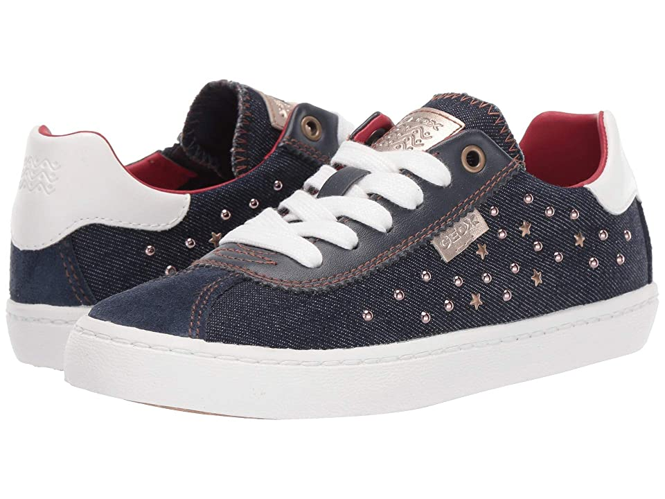 Geox Kids Kilwi Girl 41 (Little Kid/Big Kid) (Navy) Girl