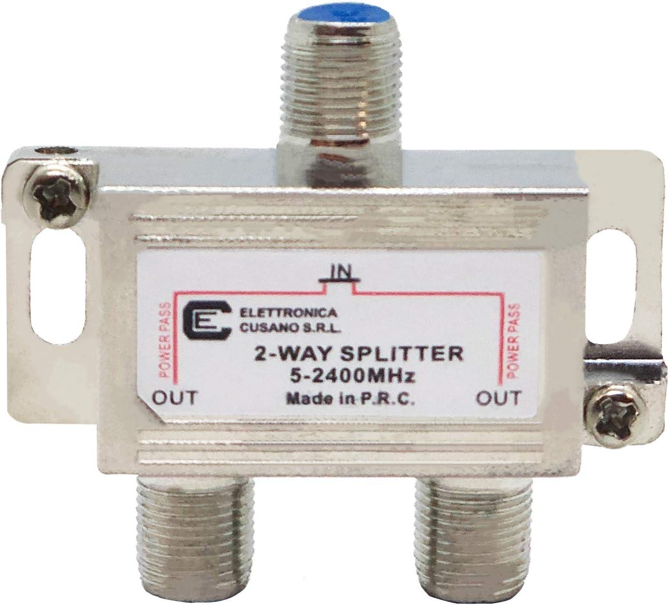 6233 – Splitter/Distribuidor de 2 Vías de Interior con Conector EFFE para TV/Satélite