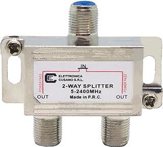6233–Splitter/Distribuidor de 2Vías de Interior con Conector EFFE para TV/Satélite