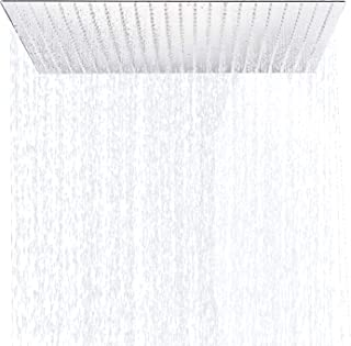 Chrome Brass 24 Inches Top Shower Head Bath Square Spray Head