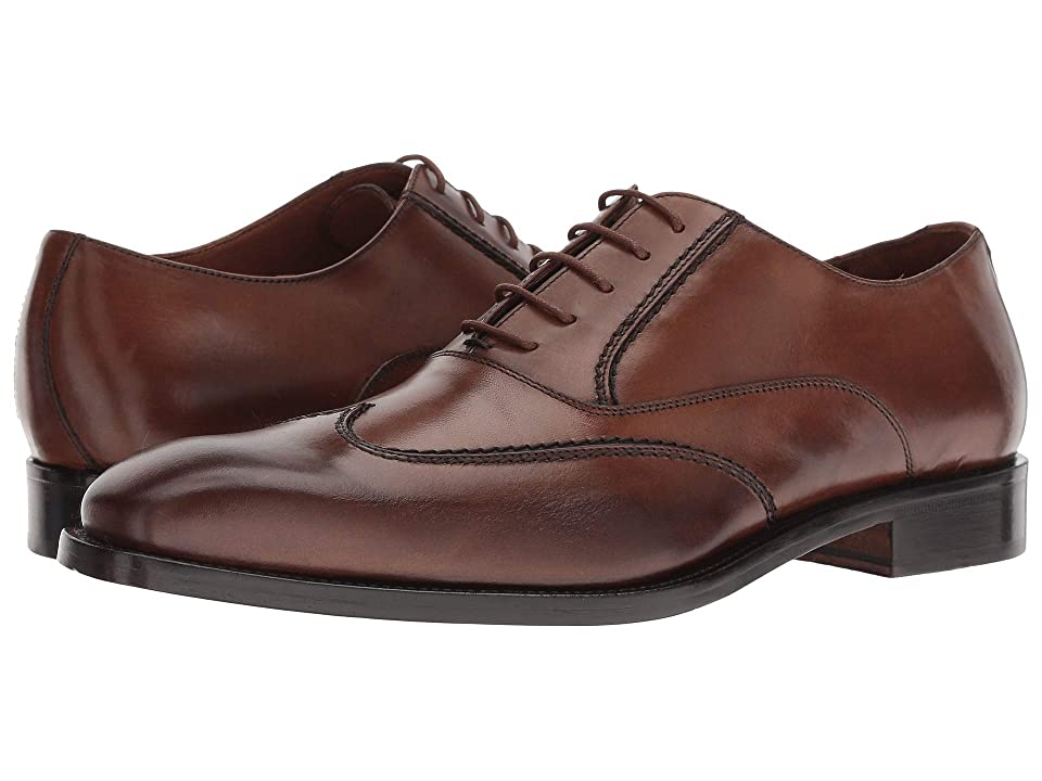 Massimo Matteo Wing Tip Bal (Burnished Tan) Men