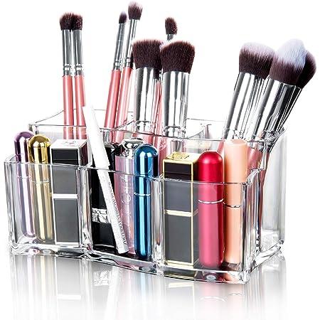 Maojuee Organisateur de Maquillage Acrylique Organisateur de Maquillage Cosmetic Organizer Etui de Rangement Organisateur Cosmétique De Stockage – Transparent