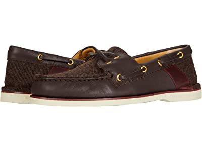 Sperry Gold Cup A/O Cross Lace Tweed (Brown) Men