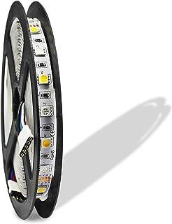 ESUMIC® RGB LED Light Strip RGBWW 16.4ft 5M Flexible No-Impermeable + Blanco cálido 300Leds Que Cambia de Color luz de Tira (RGBWW)