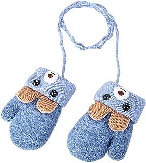 Toddlers Kids Warm Winter Full Finger Gloves Baby Thick Fleece Lined Ski Gloves