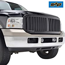 EAG Replacement Upper Grille Black ABS Full Grill Fit for 05-07 Ford F-250/F-350/F-450 Super Duty