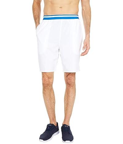 Lacoste Striped Waistband Shorts (White/Nova Blue) Men