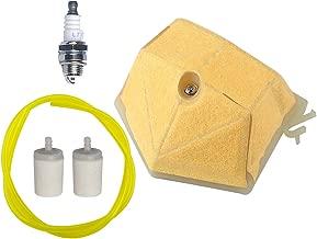 Hipa Air Filter + Fuel Filter + Spark Plug + Fuel Line Hose for Husqvarna 51 55 55EPA 55 Rancher EPA Chainsaw