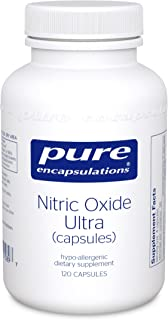 Pure Encapsulations - Nitric Oxide Ultra (Capsules) - Hypoallergenic Supplement Supports Nitric Oxide Production and Healthy Blood Flow* - 120 Capsules