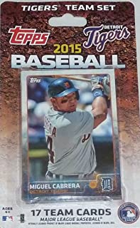 2015 Topps Detroit Tigers Factory Sealed Special Edition 17 Card Team Set with Justin Verlander Miguel Cabrera Plus