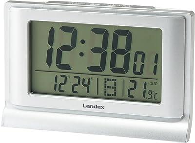ランデックス(Landex) 目覚まし時計 デジタル タイムオーシャン 日付表示 シルバー YT5261SV