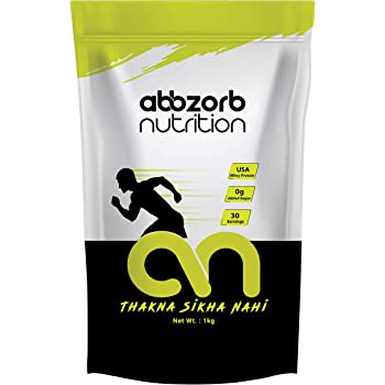 Abbzorb Nutrition Whey Protein 26g Protein | 6.9g BCAA -with Digestive Enzymes (Chocolate, 1 Kg Refill Pack)