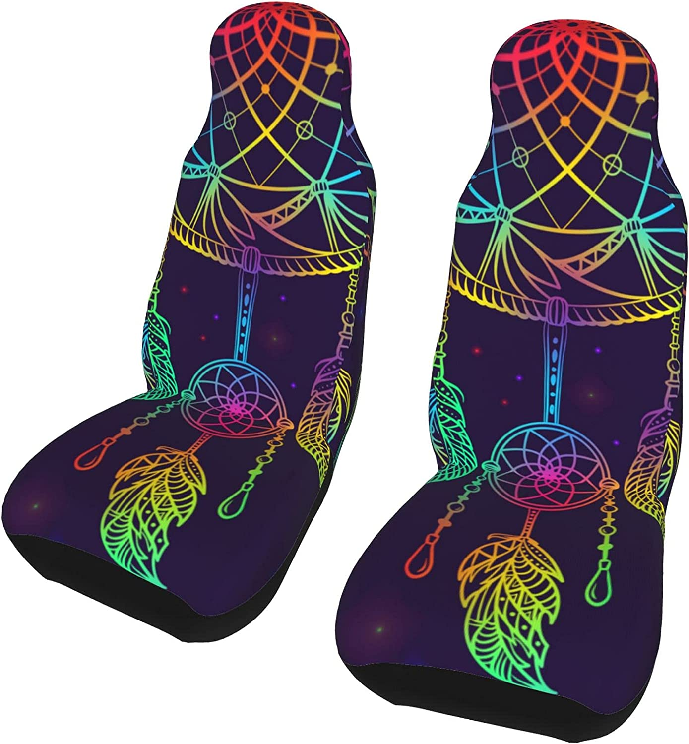 Ranking TOP9 Inrubie Hand Ranking integrated 1st place Drawn Colorful Dream Catcher Pcs Covers Car Seat 2