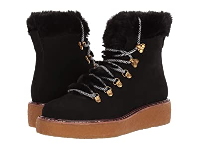 J.Crew Nubuck Crepe Sole Wedge Winter Boot (Black) Women