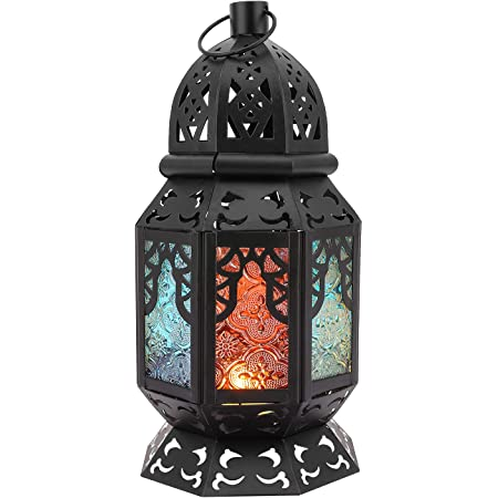 For Moroccan Style Iron Candle Holder Lantern Tealight Candlestick Wedding
