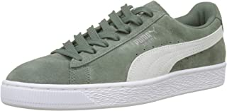 PUMA Womens Laurel Wreath Green Suede Classic Trainers