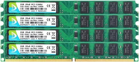 DUOMEIQI 8GB(4x2GB) DDR2 667MHz PC2-5300 240-Pin 2RX8 1.8V CL5 DIMM DDR2 RAM Memory Module for Desktop