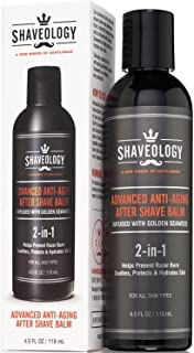 SHAVEOLOGY Aftershave for Men - Advanced 2-in-1 Anti-Aging Skin Care Lotion Formula, Natural Moisturizer After Shave for Men's Shaving - Eliminates Razor Burn, Bumps, Rashes and Ingrown Hairs