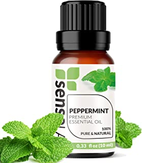 Peppermint Essential Oil - Made in India - 100% Pure Extract Peppermint Oil Therapeutic Grade (0.33 Fl Oz / 10 ml)