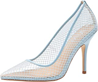 vivianly Womens Fashion Transparent Pointed Toe Pumps Stilettos Heels Dress Shoes