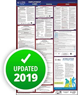 2019 Ohio Labor Law Poster, All-in-One OSHA Compliant OH State & Federal Laminated Poster (26