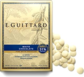 Guittard White Vanilla Melting Chocolate Apeels 1LB Bag
