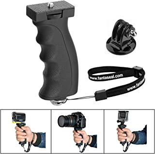 Fantaseal Ergonomic Camera Grip Mount Compatible with Nikon Canon Sony DSLR Camera Camcorder+ GoPro Hero 8 7 6 5/4/3/Session Sony Garmin Virb SJCAM Action Camera Hand Grip Stabilizer Handle Holder