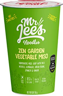 Mr Lee's Zen Garden Miso Instant Cup Noodles, Made in Australia, Vegan, The finest 100% real chunks of ingredients, Gluten...