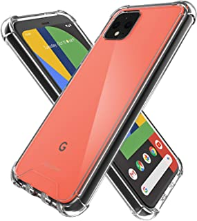 ProCase Google Pixel 4 XL Case Clear, Slim Hybrid Crystal Clear Back Cover Anti-Yellow Shockproof Cover for Google Pixel 4 XL 2019 -Black Frame
