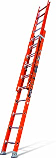 Little Giant Ladders 15644-009 Lunar Fiberglass Extension Ladder, 20-Feet 375-Pound