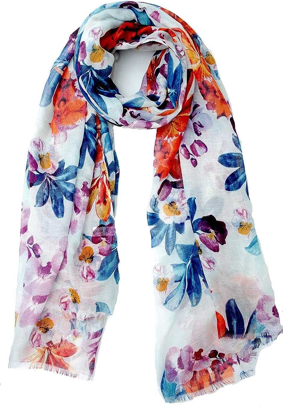 Scarfs for Women Lightweight Floral Flower Winter Scarf Large Fashion Wrap Shawls Oversized Cape tassel Fall Scarves