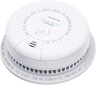 X-Sense 10 Year Battery Smoke Detector Alarm, UL Listed Fire Alarm with Photoelectric Sensor, Auto-Check & Silence Button,...