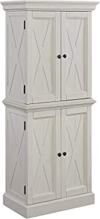Seaside Lodge Hand Rubbed White Kitchen Pantry by Home Styles
