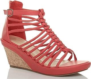 Ajvani Women's Strappy High Heel Sandals Size