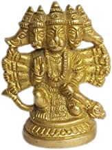 PARIJAT HANDICRAFT Hanuman Brass Idol Hindu god of Strength Statue Hanuman Large Idols for Temple Home and Office (Panchmu...
