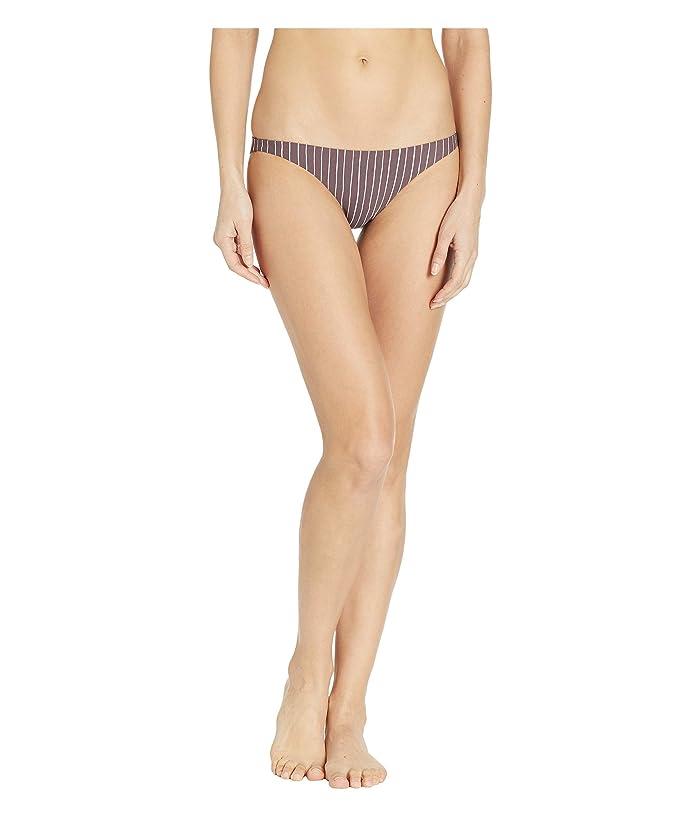 Vitamin A Swimwear Luciana Full Coverage Bottom (Cigar Stripe) Women