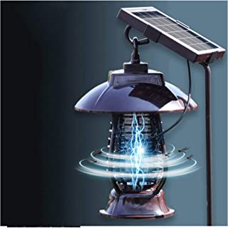 FILOL New Solar Powered Bug Zapper Mosquito Trap Killer Lamps Bug Zapper Pest Insect Outdoor Indoor Garden Lawn Waterproof Gold Lamp Eliminator in Lawn Residential Ground Garden Patio