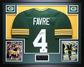 Brett Favre Autographed Green Packers Jersey - Beautifully Matted and Framed - Hand Signed By Brett Favre and Certified Authentic by Auto Favre COA - Includes Certificate of Authenticity