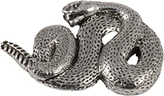 Rattlesnake Snake Reptile Pewter Lapel Pin, Brooch, Jewelry, A074