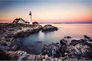 Maine Lighthouse Photography, Portland Head Light at Fort Williams Park, Cape Elizabeth Print, Maine Wall Art, 8x10 to 24x36