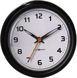 InterDesign Forma Suction Clock For Bathroom or Shower, Black
