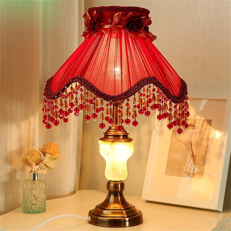 Shopping-Mit Nachtlicht Nachttischlampe Schlafzimmer Ehe Raum dekorativen roten Tuch pastoralen Prinzessin Raumlampe Tischlampe B01LW0O9ZU   | Räumungsverkauf