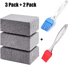 U-Likee Griddle Grill Cleaning Brick -Silicone Basting Brushes for Barbecue-Scaling Cleaning Stone for Removing Stains BBQ Cleaning (A Set of 5)
