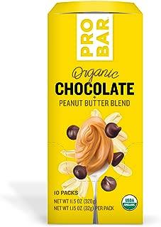 PROBAR - Nut Butters - Peanut Butter, Chocolate + Peanut Butter Blend, Pack of 10 - USDA Organic, Gluten Free, Organic Plant-Based Butter