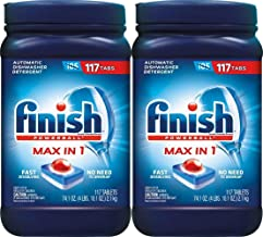 Finish Max in 1 Plus Super Charged 2X Dishwasher Detergent,110-Count, 71.6 Ounce (2 Pack)