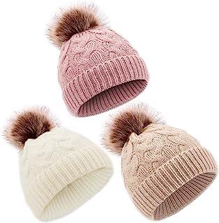 DANMY Baby Beanie Hat, Infant Newborn Toddler Winter Warm Knit Cap for Little Boys Girls, Winter Warm Hat
